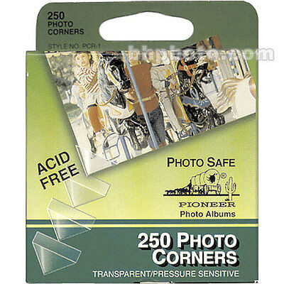 NEW Pioneer Photo Corners Self Adhesive, 250 Package Clear Photo Corners