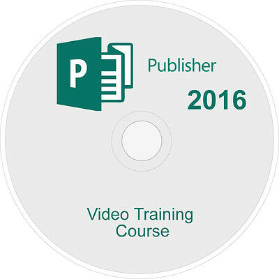 Learn Microsoft Office:publisher 2016 Course Video Tutorial Training Guide  Dvd