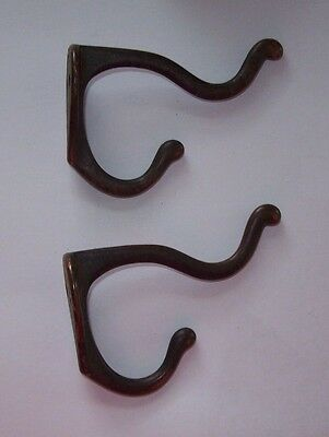 Antique Vintage Pair  Cast Hooks Coat-Hat-Hanger