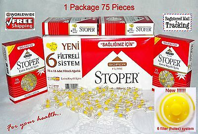 75 Pieces!!! Cigarette Filters - Tar Blocking -  Stoper Targard 1 Packs