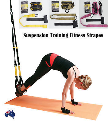 Suspension Training Bodyweight Exercise System Fitness Straps Gym Same as TRX