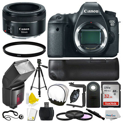New Canon EOS 6D Camera Bundle + Canon 50mm STM + 32GB Storage & More!