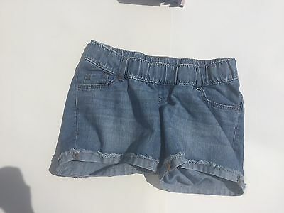 Old Navy Maternity Denim Cuffed Shorts Size 6 Pre-owned Underbelly