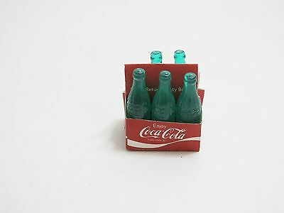 Vintage Coca-Cola Miniature Mini Coke 5 Pack (Plastic) With Carrier Missing 1 Bo