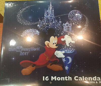 Disney Parks 2017 Walt Disney World 16 Month Calendar new sealed
