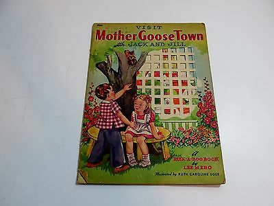 Vintage 1942 Visit Mother Goose Town With Jack And Jill Peek A Boo Book By Ruth