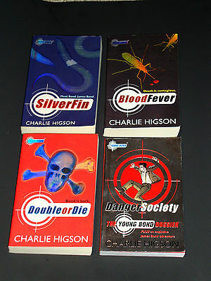 Lot 4 Young Bond Series Books # 1-3 + Dossier Higson Silverfin Bloodfever Double