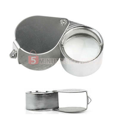 30X21mm Glass Lens Magnifying Magnifier Jeweler Eye Jewelry Loupe Loop