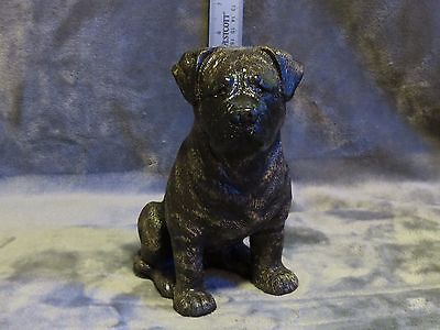 Bullmastiff Plaster Dog Statue Hand Cast And Painted By T.c. Schoch
