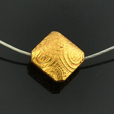 18k Solid Yellow Gold Fancy Kite Spacer Finding Bead