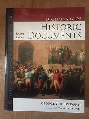 Dictionary of Historic Documents, Revised Edition