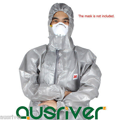 3M 4570 Protective Coverall Chemical Liquid Protection Suit Clothing with Hood