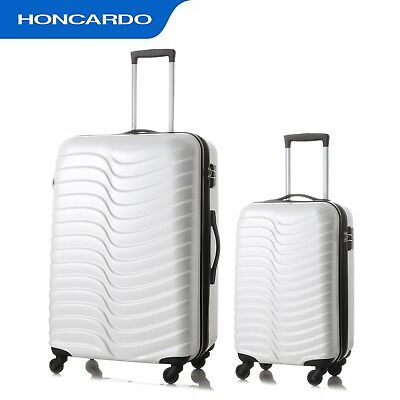 2PCS  Luggage set 4 Spinner wheels Trolley Suitcase Expandable Travel Bag Cabin