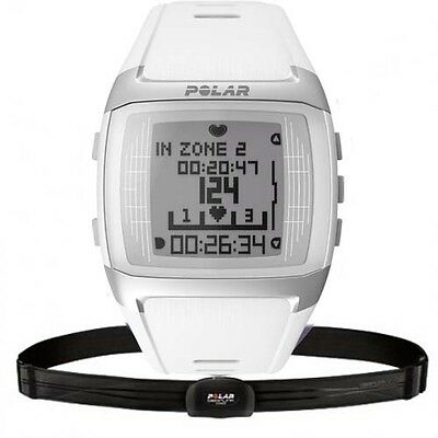 Polar FT60 Heart Rate Monitor Watch (White) with GEN POLAR WARR