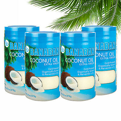 BANABAN Fiji Virgin Coconut Oil 4 x 1 Litre