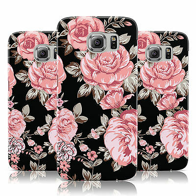 Shabby Chic New Floral Rose Flower Case Cover For Samsung Galaxy Mobile Phones