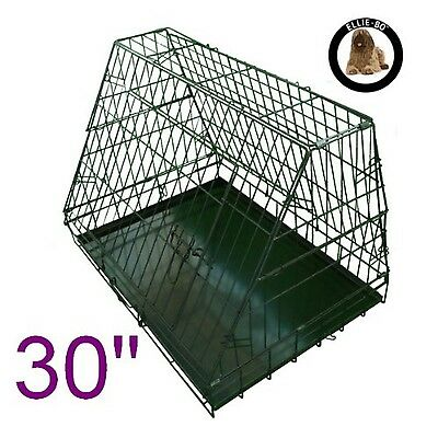 Ellie-Bo Sloping Puppy Cage Folding Dog Crate with Non-Chew Metal Tray