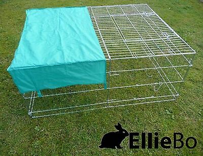 Ellie-Bo Galvanised Rabbit/ Guinea Pig/ Duck/ Chicken Enclosure Run with Roof