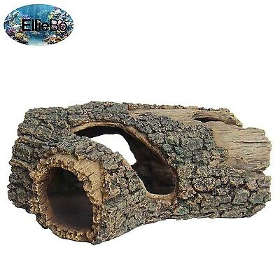 Ellie-Bo Tree Trunk Handpainted Polyresin Aquarium Ornament 23 x 15.5 x 10 cm