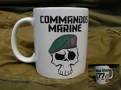 MUG - COMMANDOS MARINE - nous étions 177 - WW2 COS France US D DAY béret vert