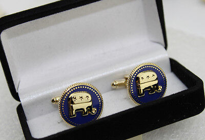 US Presidential  Republican Elephant Cufflinks with gift box