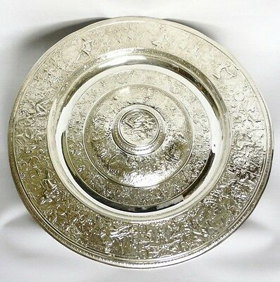Large Antique Silver Plated Charger by Elkington 1880 stock id 7851
