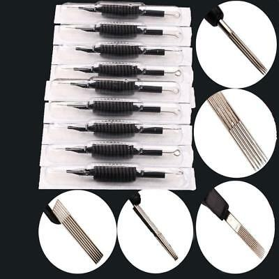 1/10/50 PCS Sterile Disposable Pro Tattoo Needle and Tube 3/4 Grip with Tip