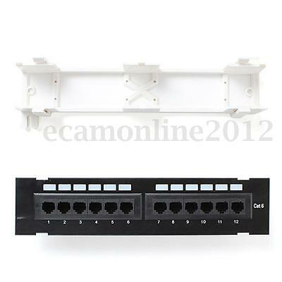RJ45 CAT6 Hub Unshielded Patch Panel 12 Ports Kabel Patchfeld Network Equipo