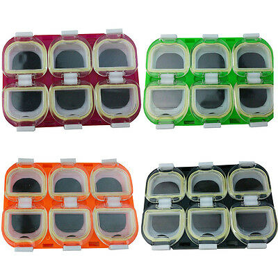 Waterproof Fishing Box Fishing Hook Storage Case with Magnet 6 Compartments