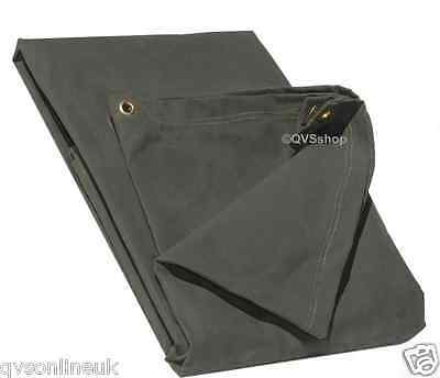 4FT x 8FT GREEN EXTRA HEAVY DUTY 21oz CANVAS TARPAULIN Car/Roof/Log Tarp