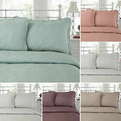 Luxurious Embroidered Pillow Shams Cushion Covers Bedspread Vintage Colours