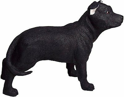 Black Staffordshire Terrier Dog Figure Ornament Decorative Figurine Gift Boxed