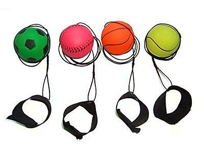 RUBBER HIGH BOUNCE BALL x 1 : Velcro Wrist & Elastic String Rebound HOT NEW TOY
