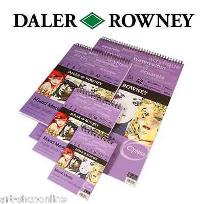 Daler Rowney Mixed Media Spiral Sketch Pad for Watercolour Acrylic A3 A4 A5