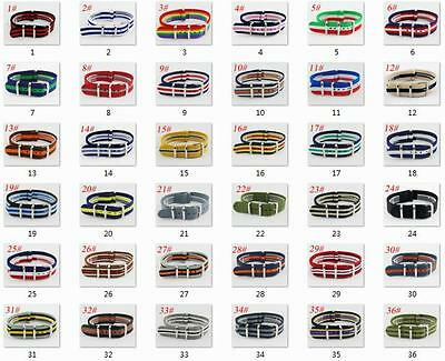 18mm Army Watchband Fiber Woven Nylon Watch Strap Wristwatches Bands band strap