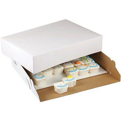 Wilton 2 Pk CORRUGATED 19 X 14 X 4 Inch Cake Cupcakes CookieS Party Box