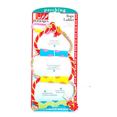 Petstages Rope Ladder Bird Toy Perch