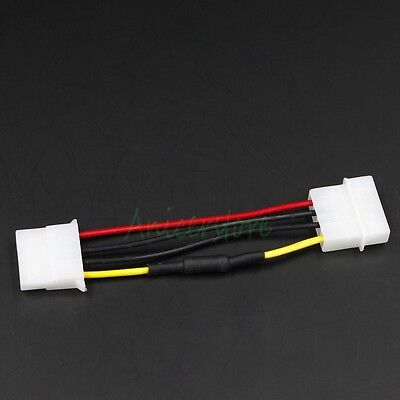 100pcs Molex 4pin F to M Noise Speed Reduction Resistor PC Fan Extension Cable