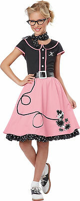 935ca090c317 50's Sweetheart Costume for Girls w/Monograms from California Costumes