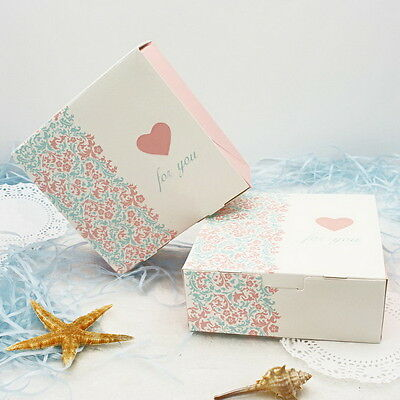 10pcs Colorful Box Wedding Party Candy Cake Gift Boxes Color Pattern Carton
