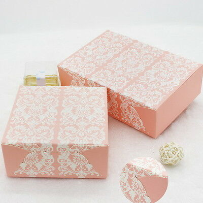 10pcs Colorful Box Wedding Party Candy Cake Gift Boxes Pink European Pattern
