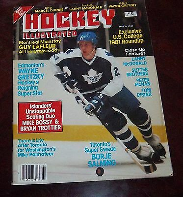 Hockey Illustrated March 1981  Borje Salming Marcel Dionne color poster