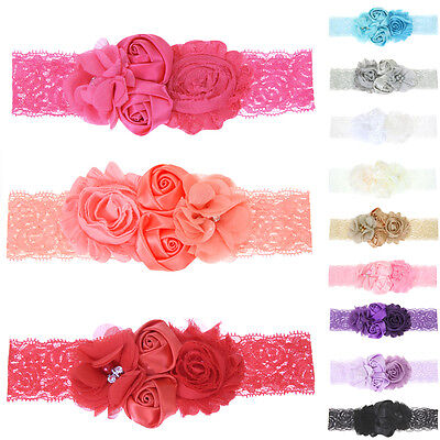 Toddler Newborn Girls Baby Infant Flower Headband Hair Bow Band Hair Accessories