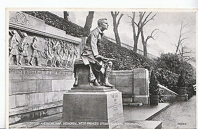 Scotland Postcard - Scottish American War Memorial - West Princes Street   3544