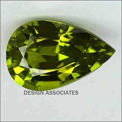 9x7 MM Pear Cut Peridot All Natural Without Treatment