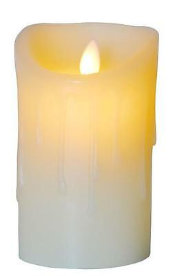 Flameless Melting Effect LED Dancing Candle Small Size 13cm Tall With Timer