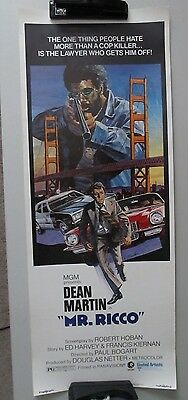 Mr. Rico 14X36 Rolled Used Movie Poster Dean Martin 1975 Insert