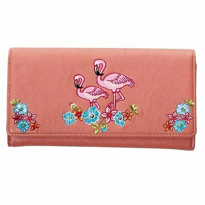 Banned Pink Flamingo Wallet Purse Rockabilly Pin Up Kitsch Retro 50s 60s 70s