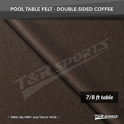 Coffee Double-sided Wool Pool Snooker Table Top Cloth Felt for 7''/8''