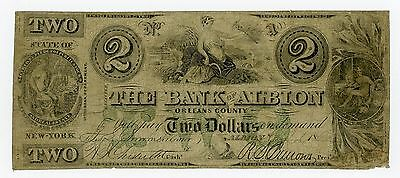 1862 $2 The Bank of Albion, NEW YORK (CTFT.) Note - CIVIL WAR Era